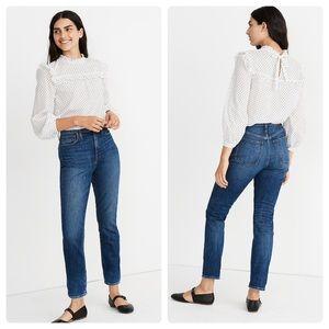 Madewell High Rise Slim Boyjean Blue Jeans Sz 28 R